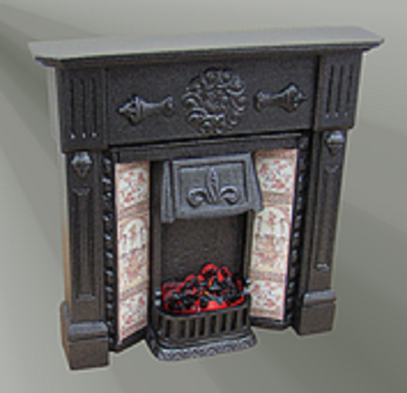 Fire places cast iron / Polished Cast Iron / Plain Marble / Fireplace surround